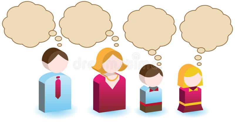 Pensamentos da família ilustração stock
