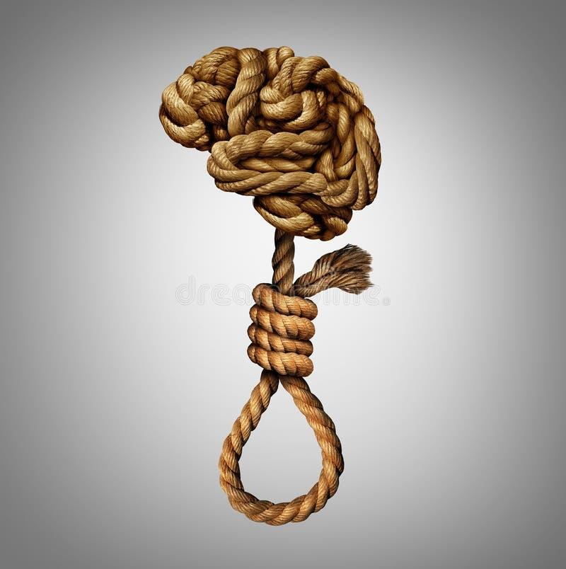 Pensamentos suicidas ilustração do vetor