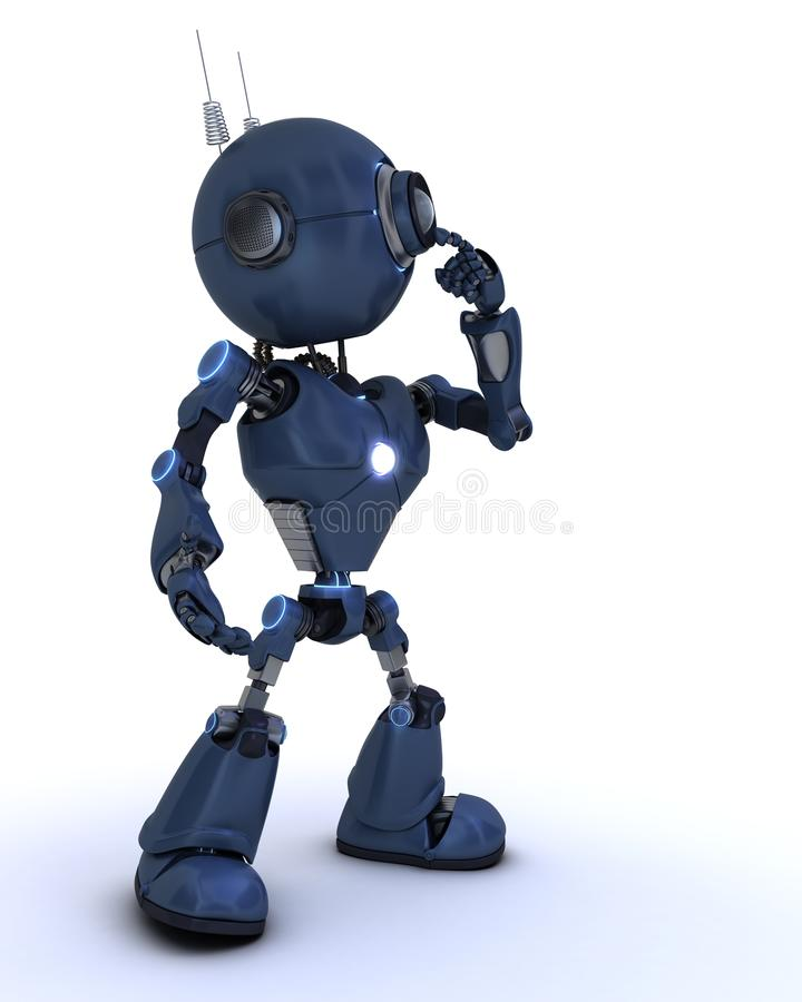 Pensamiento androide stock de ilustración