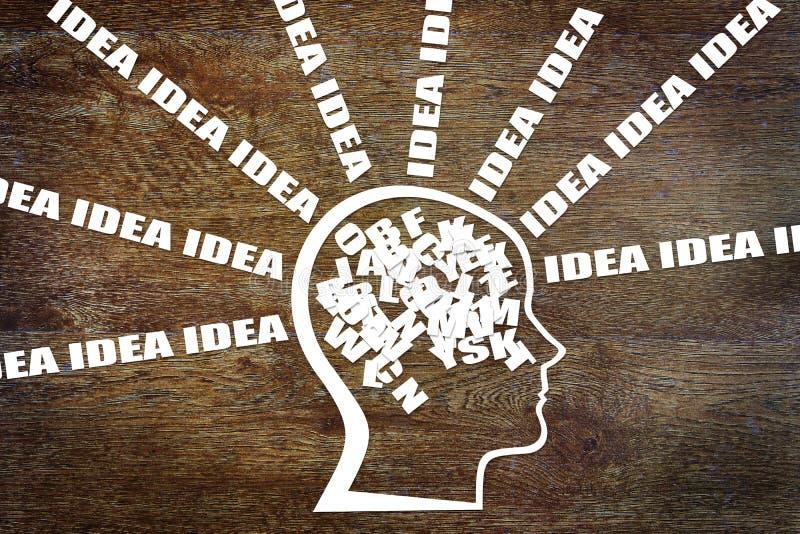 Pensamiento creativo imagen de archivo libre de regalías