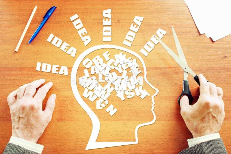 Pensamiento creativo Concepto de intercambio de ideas imagen de archivo