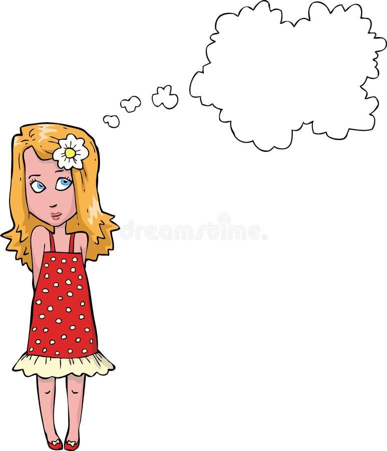 Pensamiento de la muchacha libre illustration