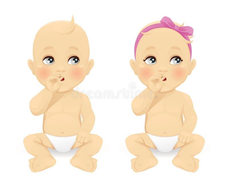 Pensamiento del bebé libre illustration