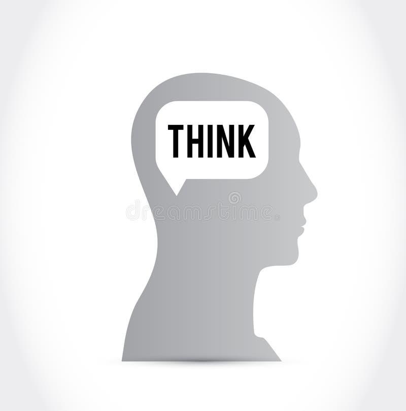 pensamiento del cerebro ilustración del vector