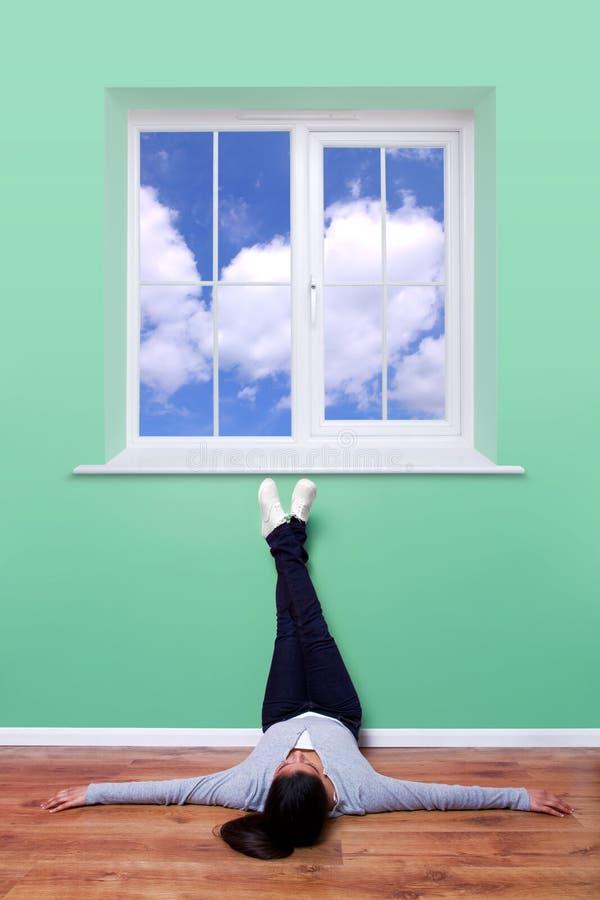 Pensamiento del cielo azul imágenes de archivo libres de regalías