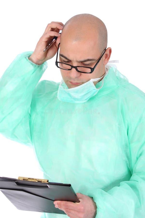 Pensamiento del cirujano fotografía de archivo libre de regalías