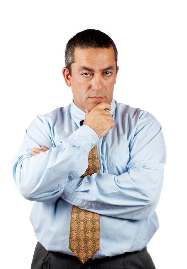 Pensamiento del hombre de negocios imagen de archivo libre de regalías