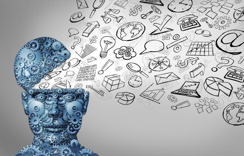 Pensamiento del negocio ilustración del vector