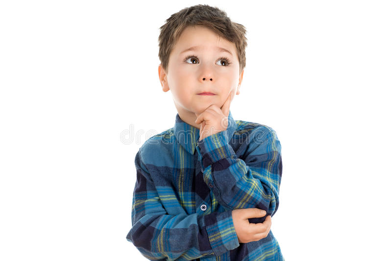 Pensamiento del niño pequeño fotos de archivo