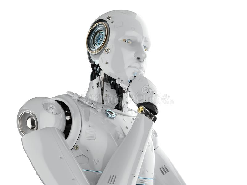 Pensamiento del robot del Humanoid libre illustration