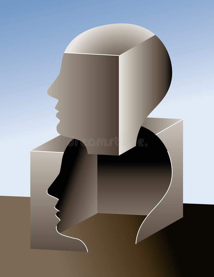 Pensamiento fuera del rectángulo   ilustración del vector