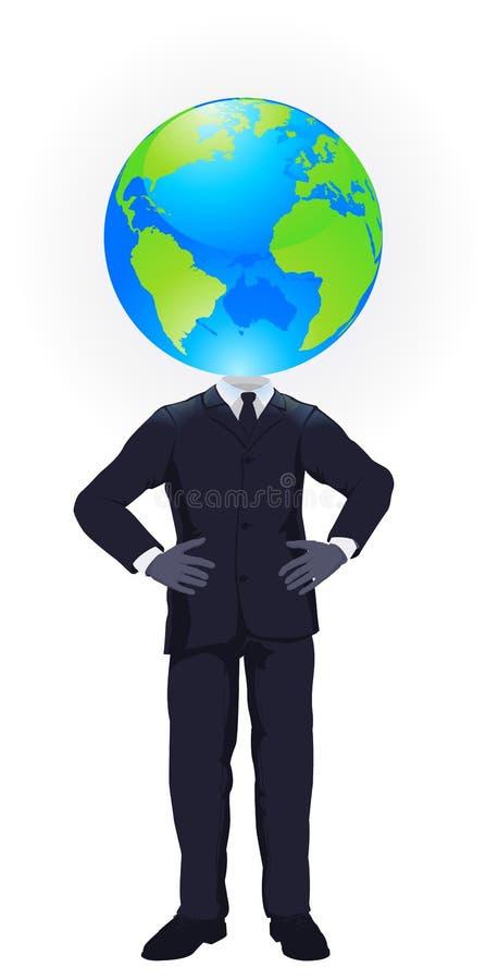 Pensamiento global ilustración del vector