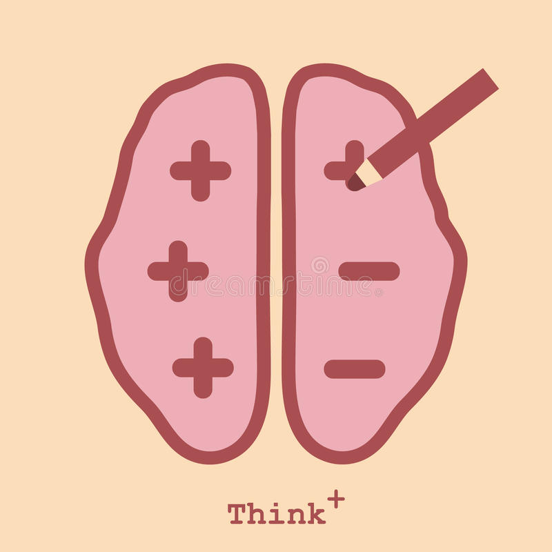 Pensamiento positivo libre illustration