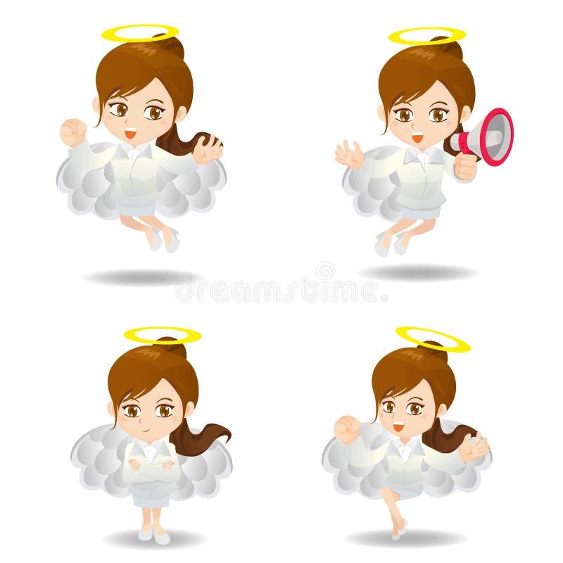 Pensamiento positivo de la mujer de negocios ilustración del vector