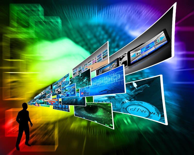 Pensamientos de la alta tecnología imagenes de archivo