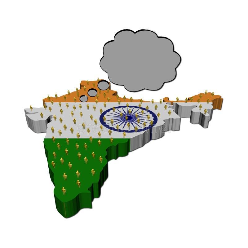 Pensamientos de la población india en indicador de la correspondencia ilustración del vector
