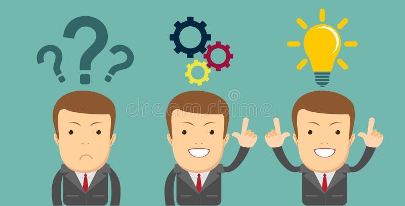 pensando o concetto di affari di soluzione dei problemi immagine stock libera da diritti