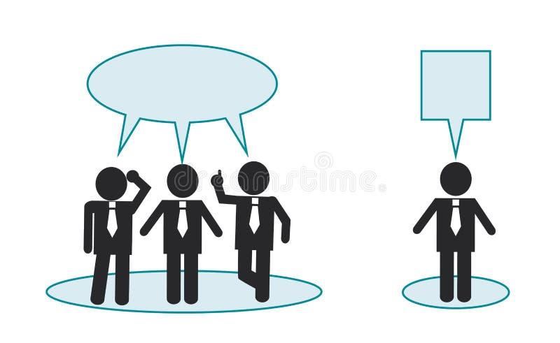 Pensar é diferente de outros povos ilustração stock