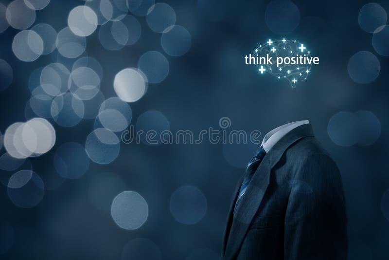 Pensare al concetto di motivazione positiva immagine stock libera da diritti