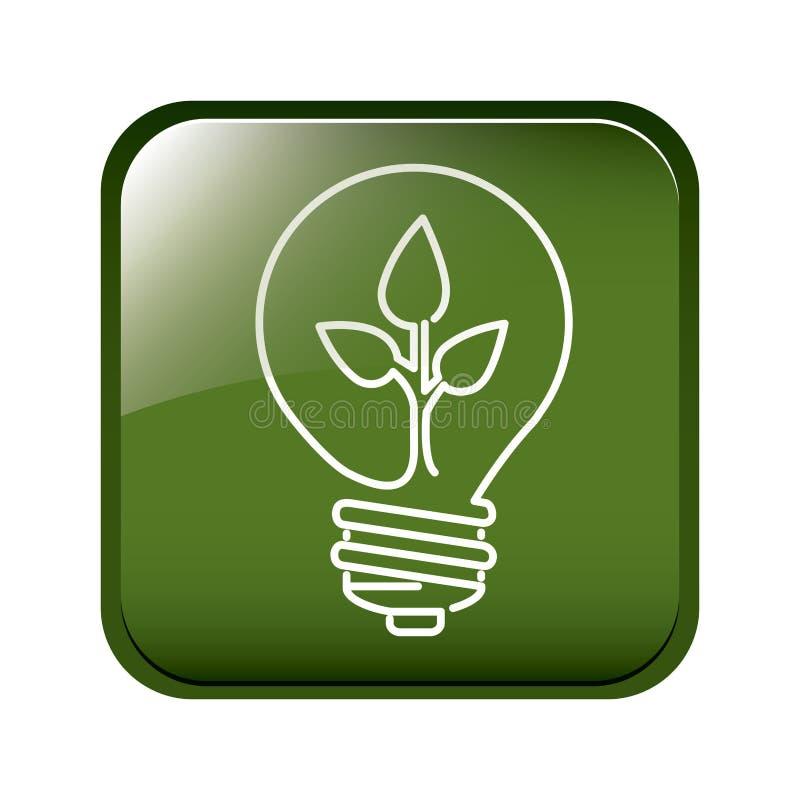 Pense a energia verde ilustração royalty free