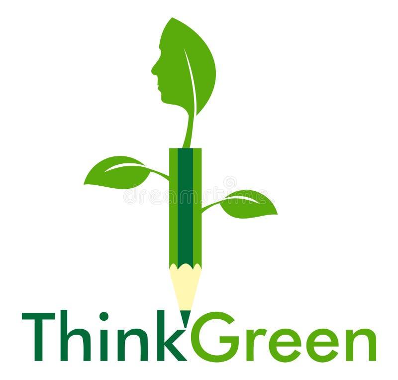 Pense a inovação verde ilustração stock
