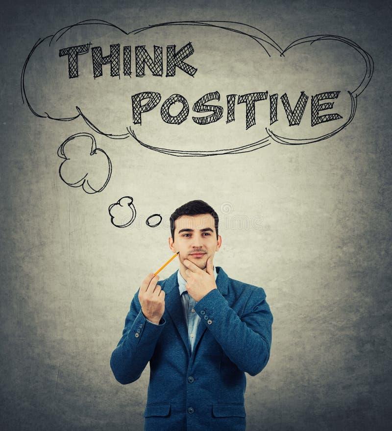 Pense o conceito positivo fotos de stock royalty free