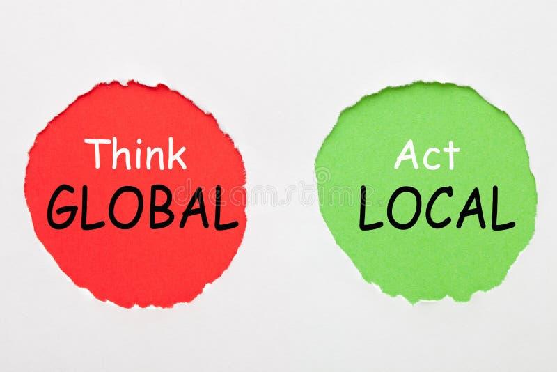 Pense o local global do ato fotos de stock royalty free