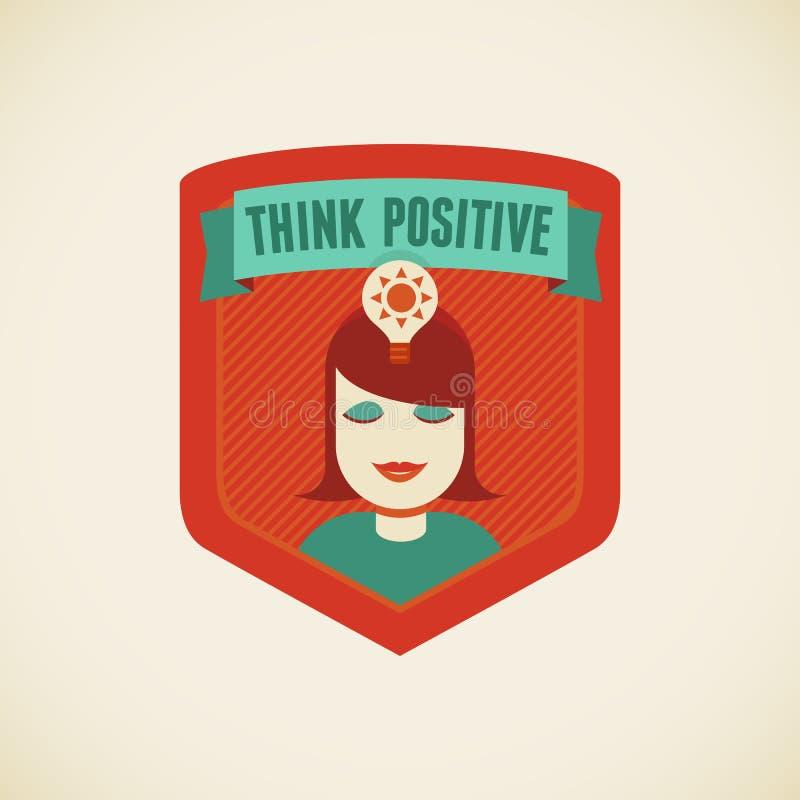 Pense o positivo ilustração royalty free