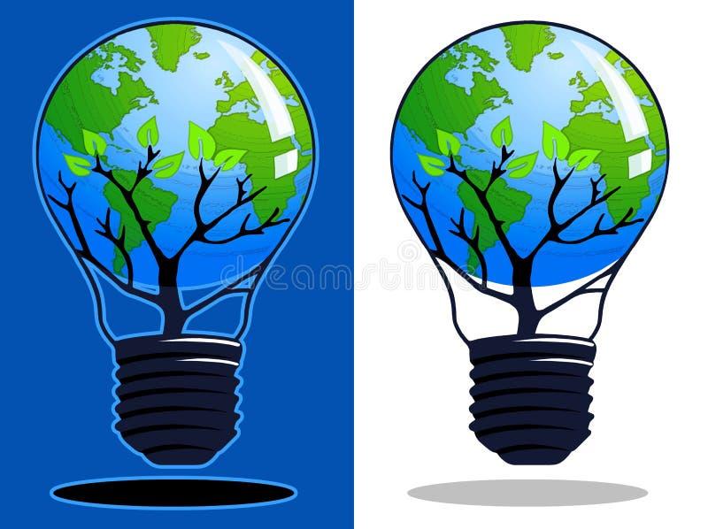 Pense o verde 2 ilustração royalty free