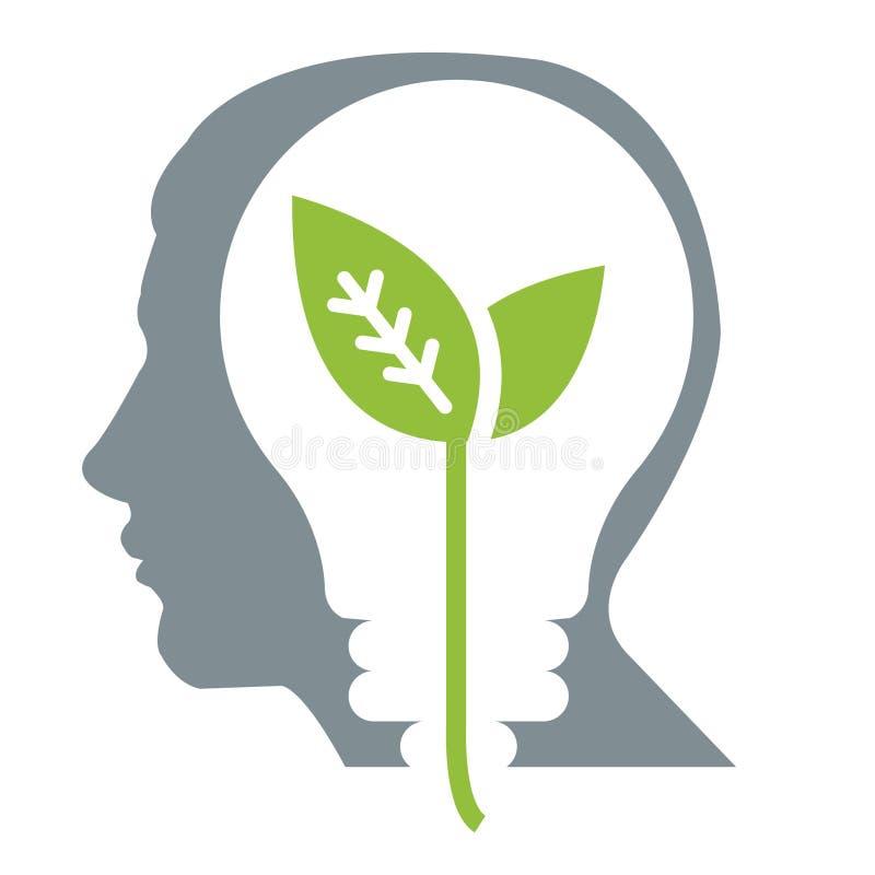 Pense o verde ilustração stock