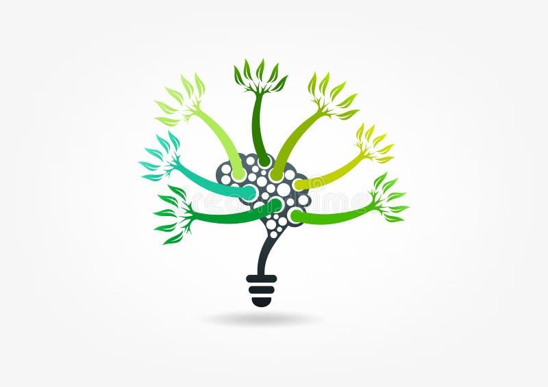 Pense o verde ilustração royalty free