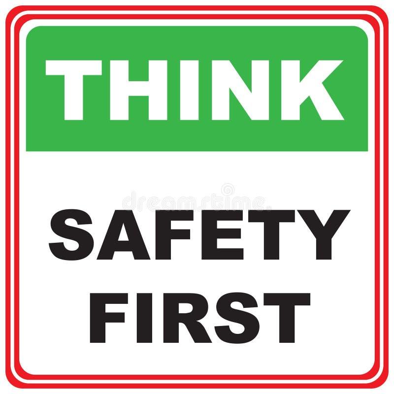Pense sobre a segurança ilustração do vetor