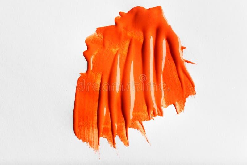 Penseelstreken van de kleuren de olieachtige die verf, op wit worden geïsoleerd stock fotografie