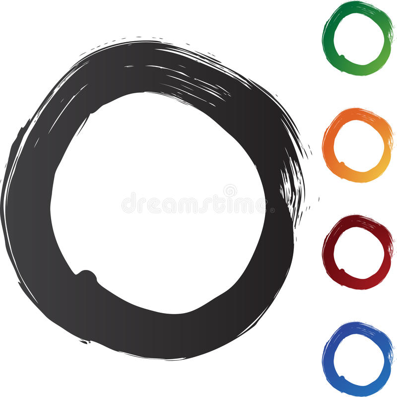 penseldragcirkel stock illustrationer