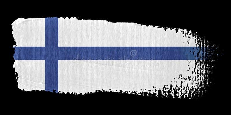 penseldragfinland flagga stock illustrationer