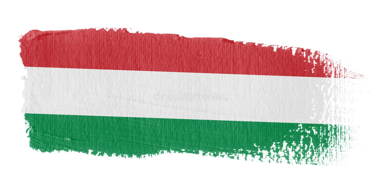 penseldragflagga hungary stock illustrationer