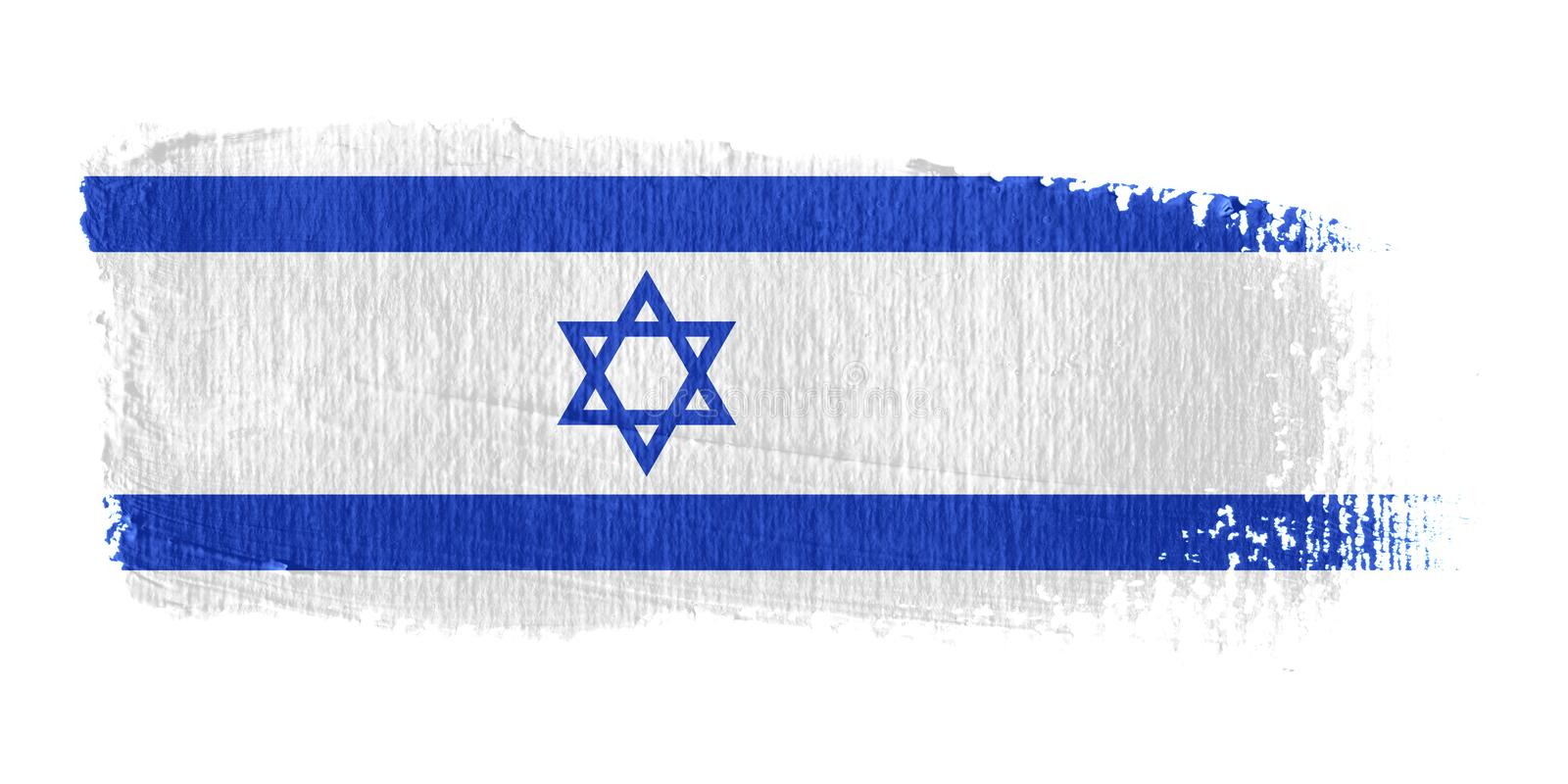 Download Penseldragflagga israel stock illustrationer. Bild av flagga - 4299075