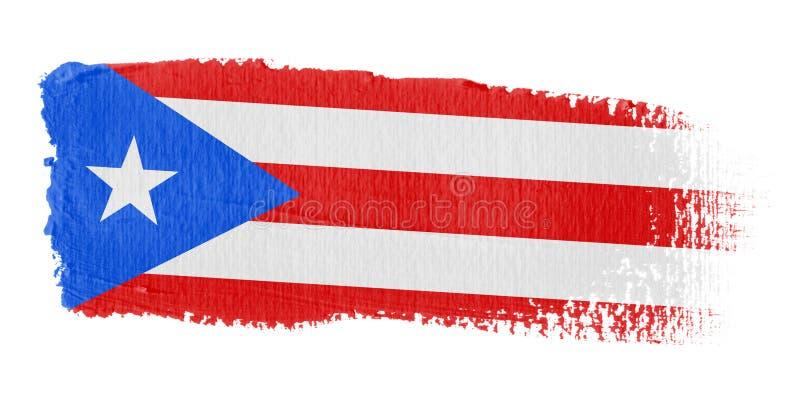 penseldragflagga Puerto Rico vektor illustrationer