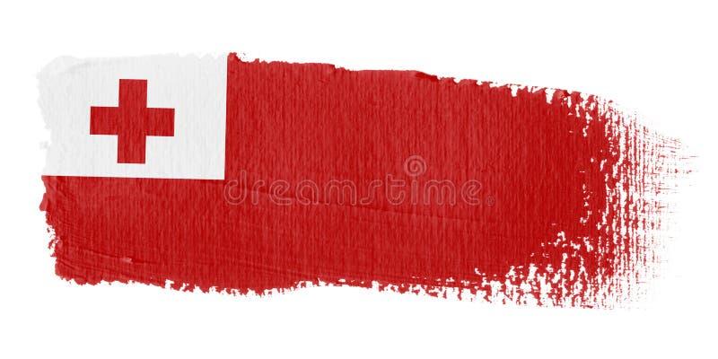 penseldragflagga tonga stock illustrationer