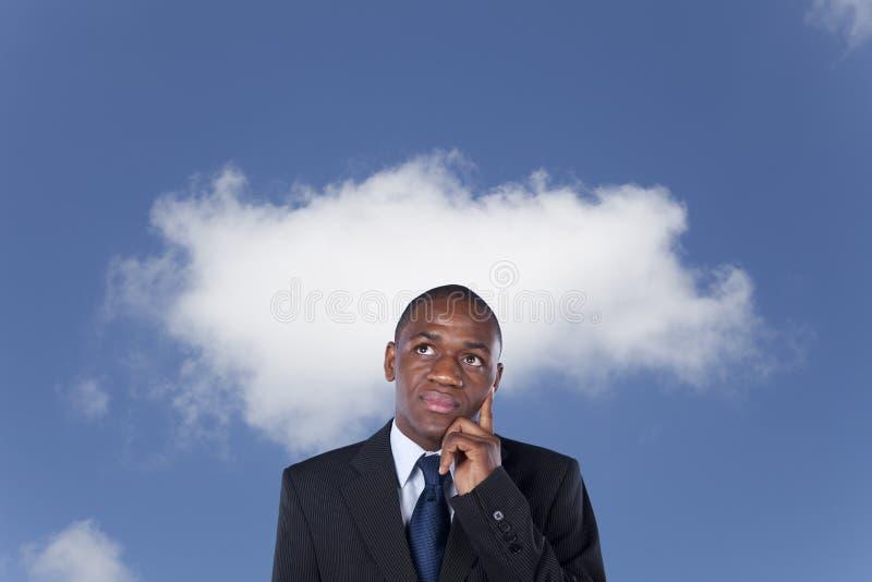 Penser africain d'homme d'affaires photo libre de droits