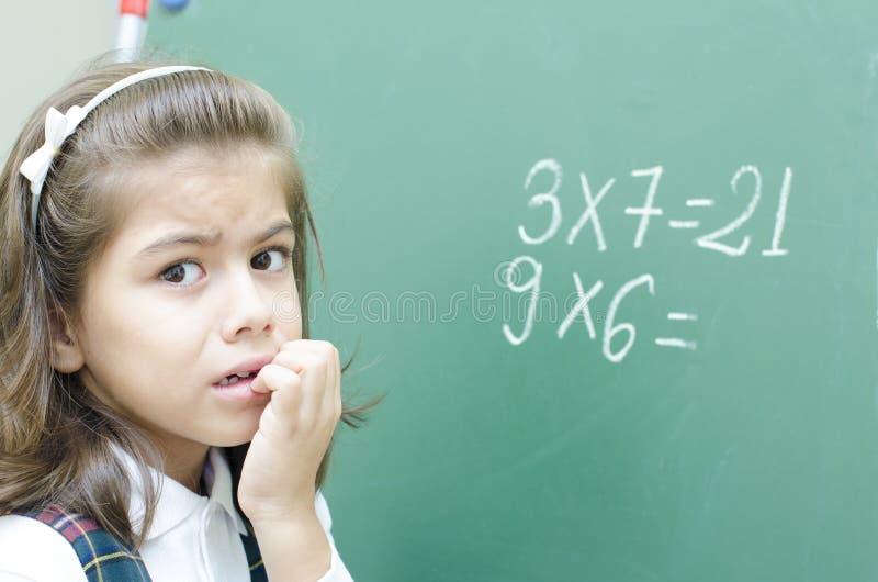 Penser confus d'écolière photographie stock