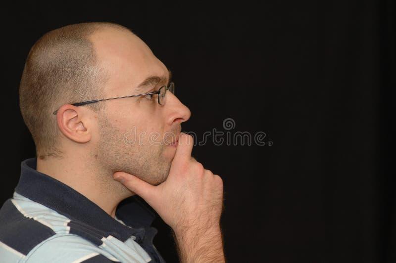 Penser d'homme photographie stock