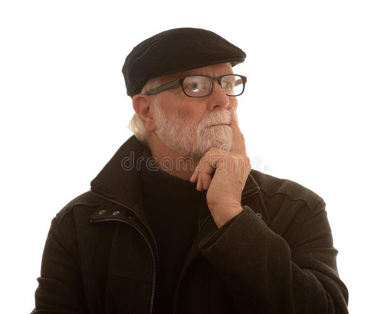 Penser d'homme aîné photos stock
