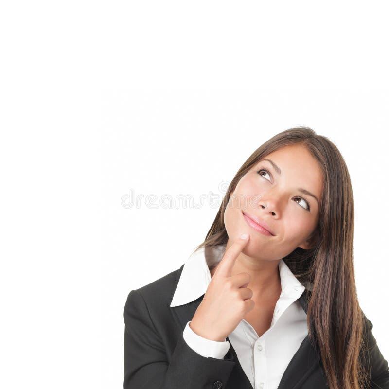 Penser de femme image stock