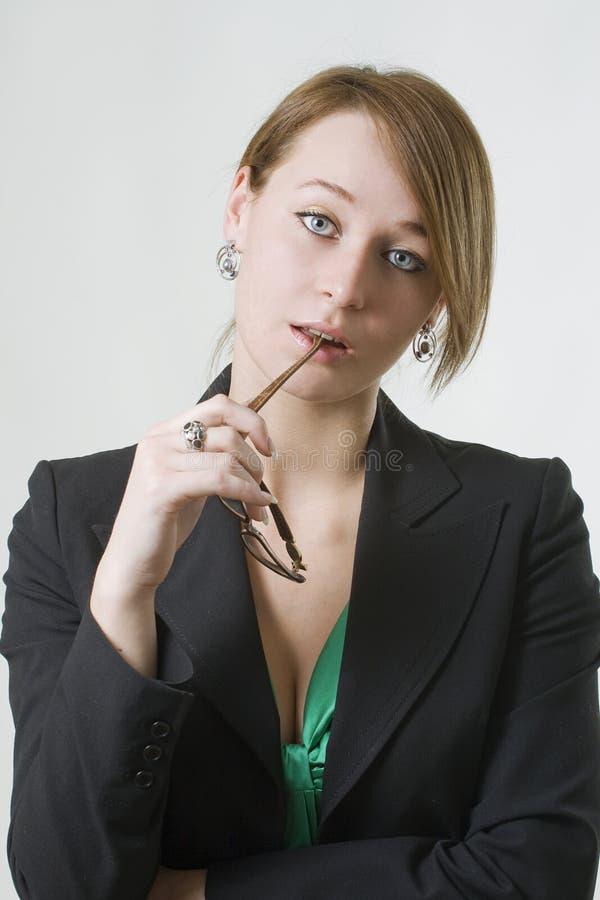 Penser de femme d'affaires photo libre de droits