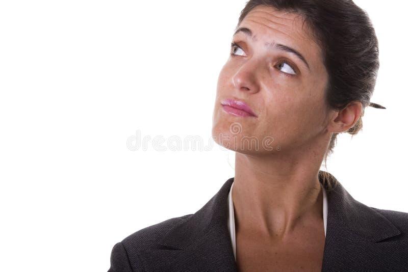 penser de femme d'affaires photographie stock