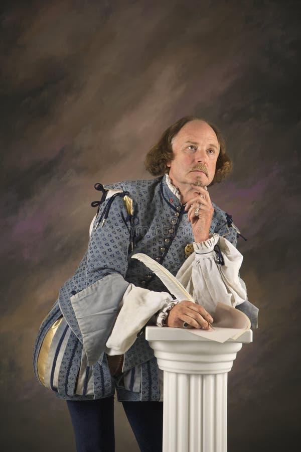 Penser de Shakespeare. photo stock