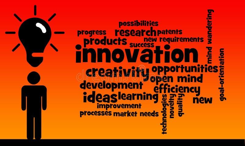 Penser innovateur illustration de vecteur