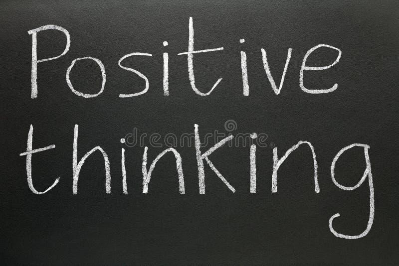 Penser positif. photographie stock