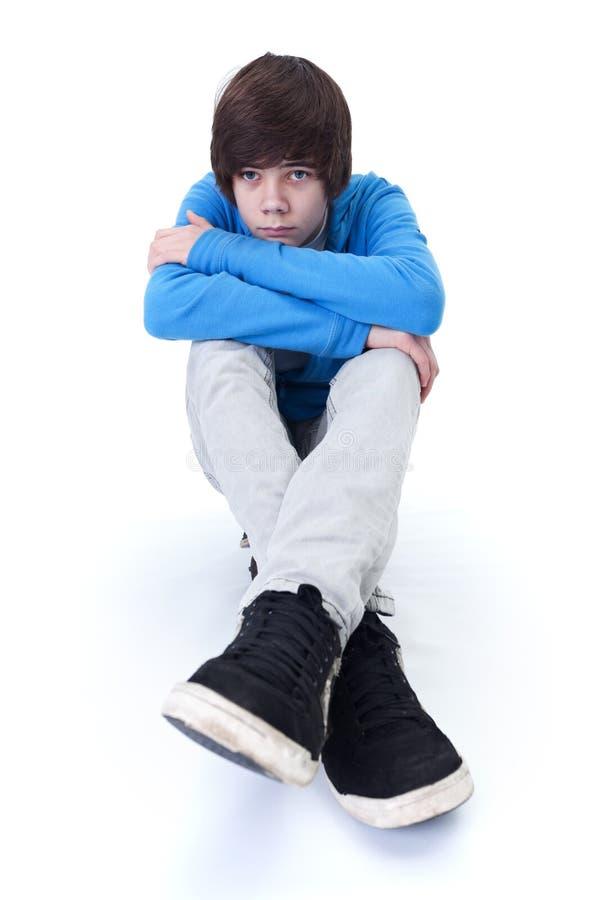 Penser triste d'adolescent photo stock